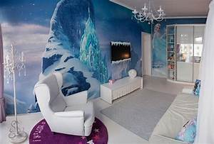 dreams come true girls bedroom inspired by the frozen With kitchen colors with white cabinets with disney frozen wall art
