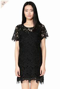 robe noire brodee coco suncoo robe suncoo monshowroom With robe noire brodée