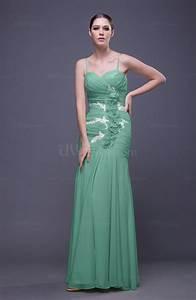 mint green romantic column spaghetti sleeveless backless With mint green wedding guest dress