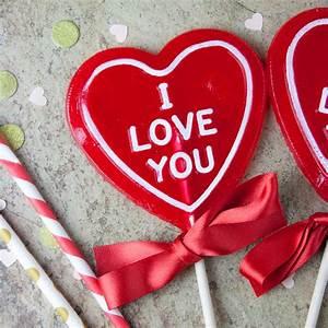 "Strawberry Prosecco - ""I love you"" Heart Shaped Lollipop ..."