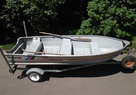 Sea Nymph Aluminum Jon Boats by 14 Ft Sea Nymph Aluminum Fishing Boat With Trailer For