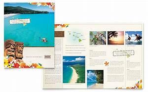 hawaii travel vacation brochure template design With traveling brochure templates
