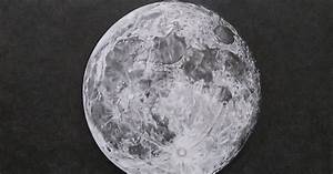 Sourcewing: Realistic drawing of full moon