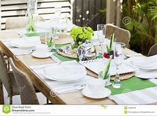 Outdoor Table Setting Stock Photography Image 24905912