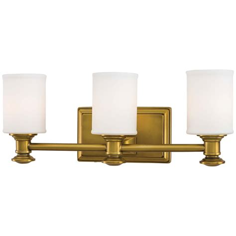 Gold Bathroom Light Fixtures by Minka Lavery Harbour Point Liberty Gold Three Light Bath