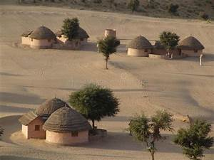 Desert Village  Rajasthan  India Stock Image