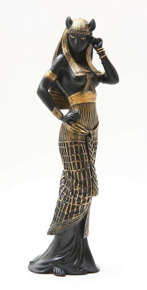Ubasti Figurine Egyptian Feline Goddess Bastet Statue 10