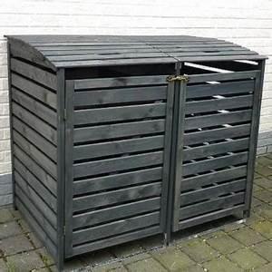 Mülltonnenbox Holz Anthrazit : m lltonnenbox vario ii m llbox doppelbox f r 2 m lltonnen ~ Whattoseeinmadrid.com Haus und Dekorationen