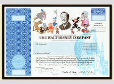 Disney stock certificates off to Never Never Land – Long