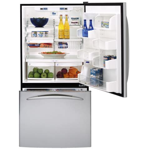 ge profile energy star  cu ft stainless bottom freezer drawer refrigerator pdsscrlss