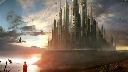 Epic Backgrounds Sci Castle Fantasy Fi Wallpapers
