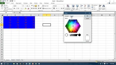 Excel Vba #change Font And Background Color Of Cells