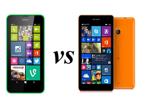 nokia lumia 630 microsoft lumia 535 comparison overview