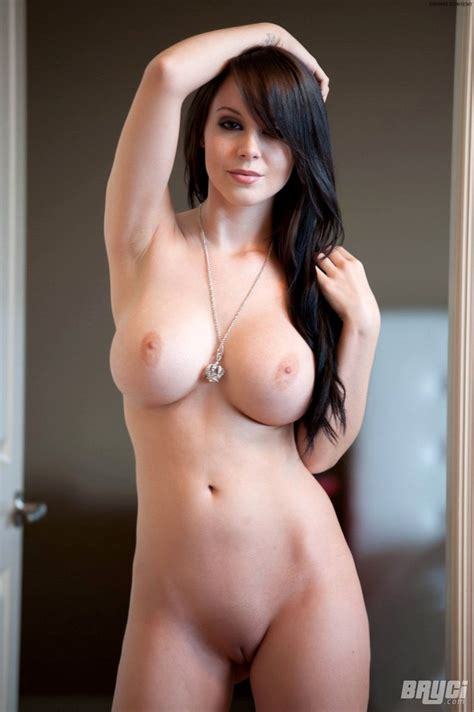 Busty Bryci Strips A Bright Pink Dress And Gets Naked