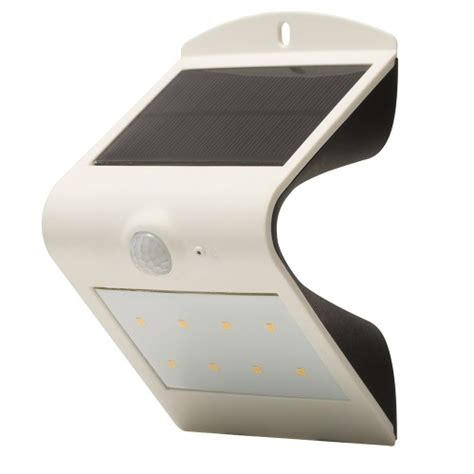 luceco pir wall light outdoor solar powered guardian ip44