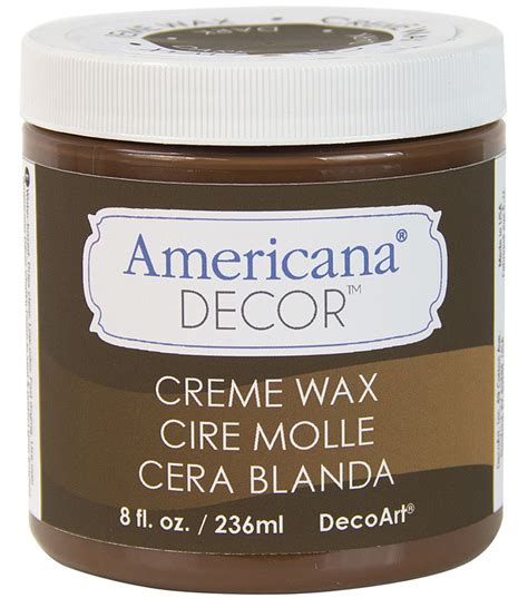 Americana Decor Creme Wax Application by Americana Decor Creme Wax 8oz Brown Jo