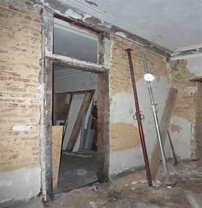 ancrage jambage ds mur pierre porteur forum maconnerie With trou dans mur porteur