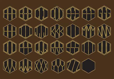 golden monogram vectors   vector art stock graphics images
