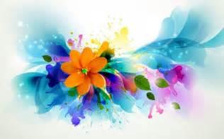 Floral Abstract Art Desktop Wallpaper