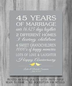45th wedding anniversary gift customized by With 45th wedding anniversary gift ideas