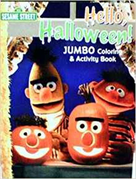 sesame street  halloween jumbo coloring  activity