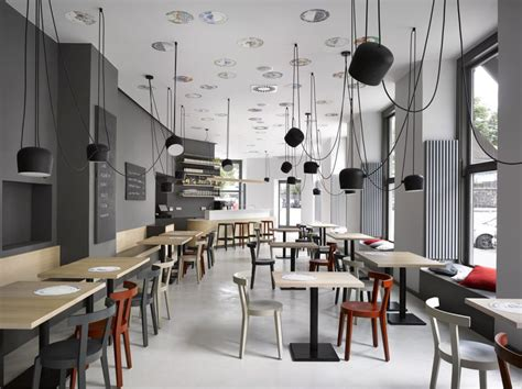 Ideas For Kitchen Walls - minimalist cafe in prague residence design