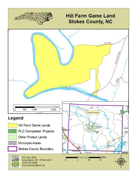 Map Stokes County River Dan