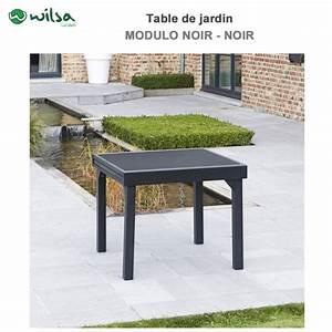 Table De Jardin 8 Places : table de jardin modulo 4 8 places noir600011 wilsa garden ~ Teatrodelosmanantiales.com Idées de Décoration