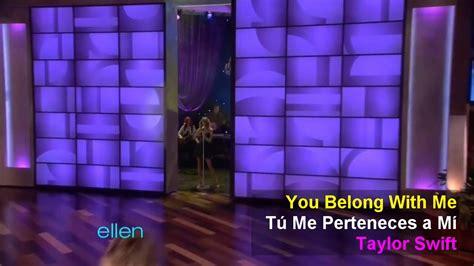 You Belong With Me - Taylor Swift (English -Español) - YouTube