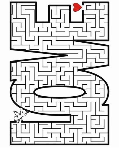 Valentine Printable Activities Games Happy Maze Valentines