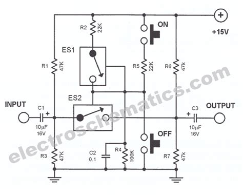 Analog Line Switch Circuit
