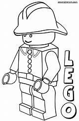 Coloring Lego Minifigures Character Popular Pirate sketch template