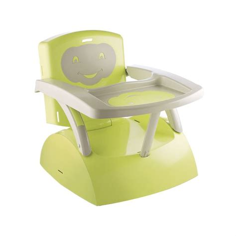 réhausseur chaise thermobaby réhausseur de chaise babytop vert vert et gris