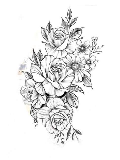 42 Simple and Easy Flower Drawings for Beginners | Tattoos, Flower tattoos, Tattoo designs