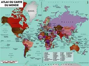 Carte Du Monde Metallique : carte mondiale avec pays du monde vacances arts guides voyages ~ Teatrodelosmanantiales.com Idées de Décoration