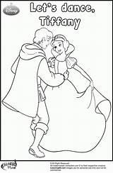 Coloring Pages Snow Prince Handsome Princess Disney Dance Dancing Team Colors Dd4l Popular Templates Coloringhome Template sketch template