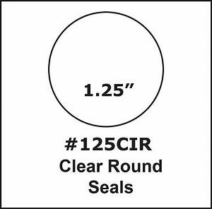 125 inch round clear circle tab seal label sticker 1000 for 1 25 inch round labels