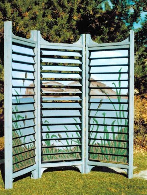 Garten Sichtschutz Paravent by Paravent De Jardin Design De Style Japonais Avec Lames
