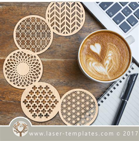 coaster template  laser cutting  design store