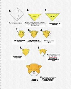 Origami Animaux Facile Gratuit : tuto origami ours ~ Dode.kayakingforconservation.com Idées de Décoration