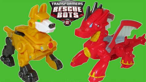 transformers rescue bots servo robot dog heatwave dragon