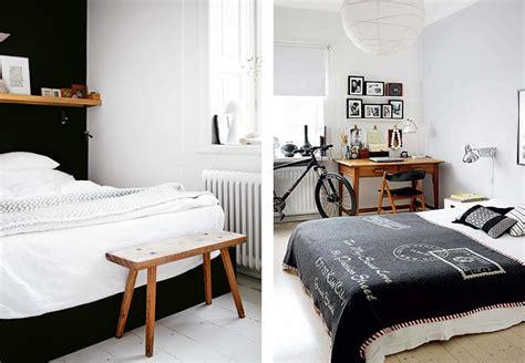 deco chambre noir et blanc d 233 co chambre blanc et bois