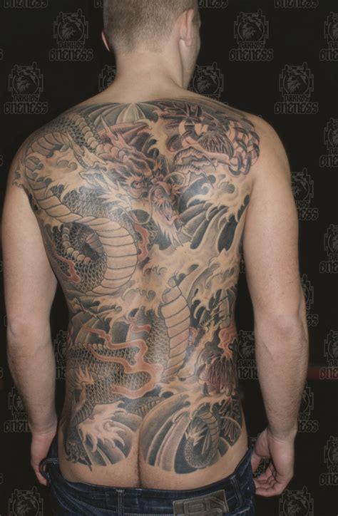 japanese black  grey dragon tattoo  darko groenhagen darkos oneness