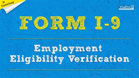 form i 9 employment eligibility verification free download