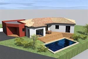 Maison En L Moderne : cuisine zone sismique habitation malie maison moderne d modele vjpg modele maison moderne a ~ Melissatoandfro.com Idées de Décoration