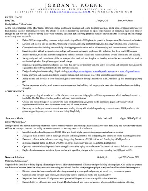 Interests For Marketing Resume by Koene Resume