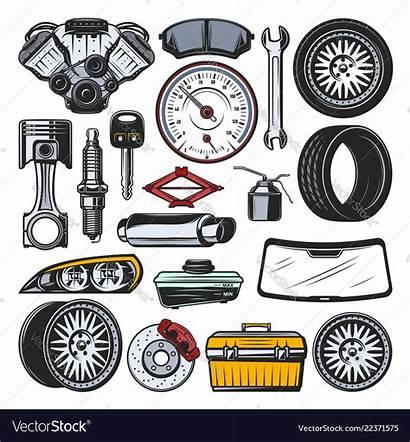 Parts Vector Tools Engine Automotive Tire Tires