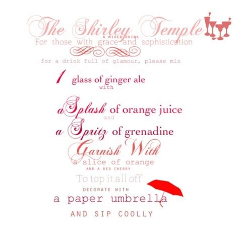 shirley temple recipe shirley temple recipe julia pinterest