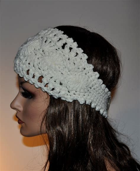 crochet ear warmer crochet ear warmer headband 100 percent handmade accessory for women