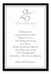 best photos of 25th church anniversary invitation samples With sample of 25th wedding anniversary invitations